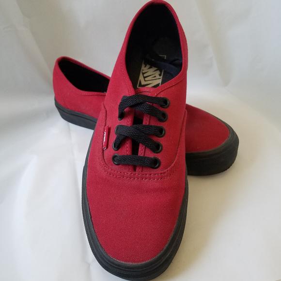 4246a96eec Vans Shoes - Red Classic Authentic Vans